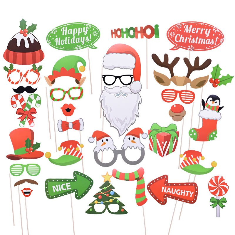 1-Set-Photo-Booth-Props-Christmas-Decorations-Funny-Santa-Claus-Mask-Mustache-Lips-Hats-Merry-Christmas.jpg_Q90